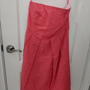 Worn once!  J Crew coral strapless dress